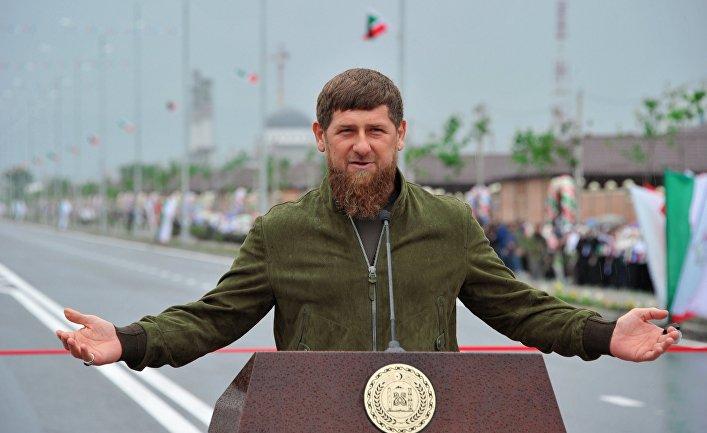 Глава Чеченской Республики Рамзан Кадыров  на церемонии открытии высотного комплекса «Шали сити» в городе Шали