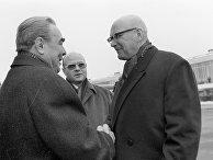 Генеральный секретарь ЦК КПСС Леонид Брежнев и Президент Финляндии Урхо Кекконен