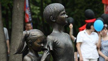 Памятная скульптура «Детям Донбасса, детям войны»