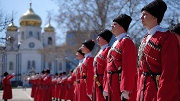 """Во время церемонии """"Час славы Кубани"""" в Краснодаре"""