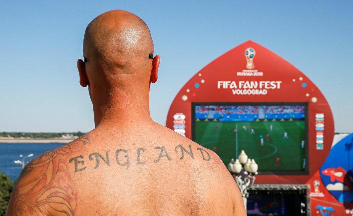 Болельщик сборной Англии в Волгограде