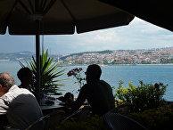 Вид на Стамбул из дворца Топкапы, Турция