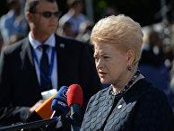 Президент Литвы Даля Грибаускайте во время интервью перед саммитом ЕС в Софии. 17 мяа 2018