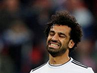 Футболист сборной Египта Мохамед Салах во время матча со сборной России