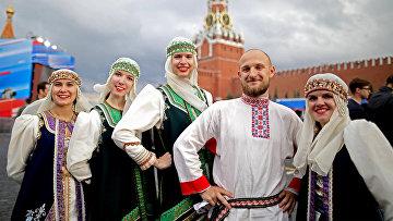 Праздничный концерт на Красной площади, посвященный Дню России