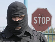 Про-украинский солдат в зоне конфликта на востоке Украины