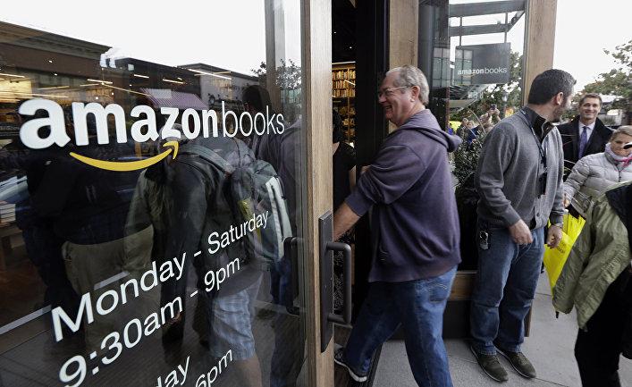 Открытие магазина Amazon Books в Сиэтле, США