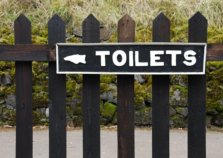 Указатель туалета