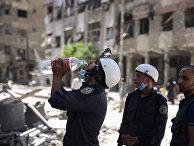 Активисты из организации «Белые каски» в Сирии