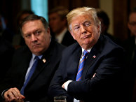 Госсекретарь США Майк Помпео и президент Дональд Трамп