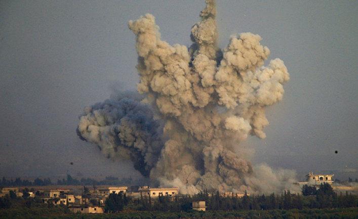 Взрыв в районе границы Сирии и Израиля