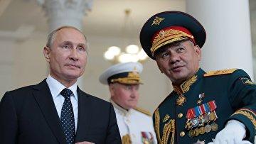 Президент РФ В. Путин посетил Нахимовское военно-морское училище