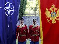 Почетный караул на церемонии вступления Черногории в НАТО в Подгорице. 7 июня 2017