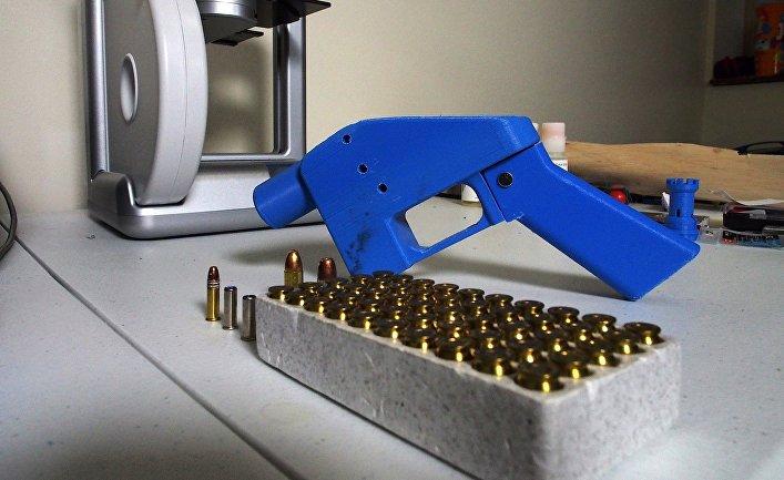 Пистолет, напечатанный на 3D-принтере