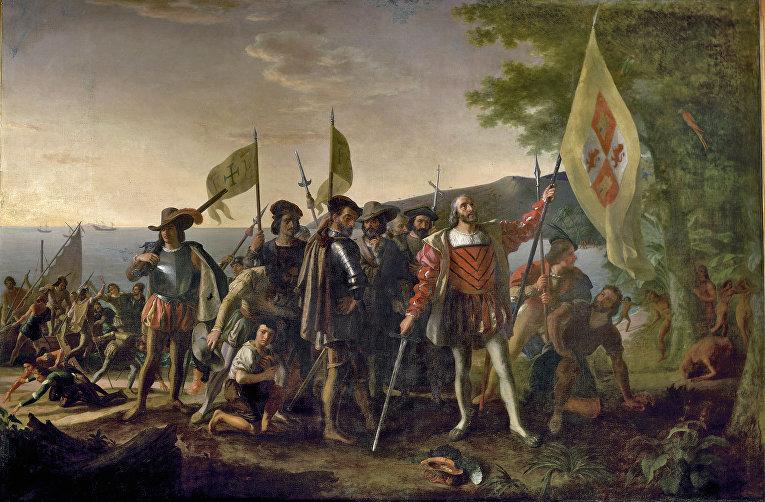 Д. Вандерлин «Высадка Колумба в Америке»