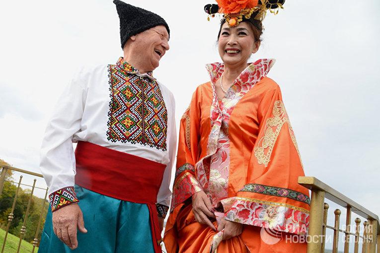 Участники Международного фестиваля дружбы народов России и Китая в Хабаровском крае