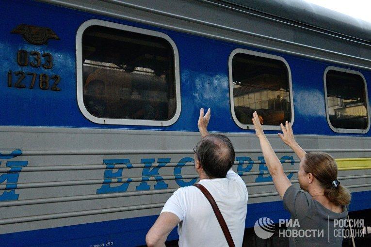Украина рассматривает возможность прекращения железнодорожного сообщения с Россией