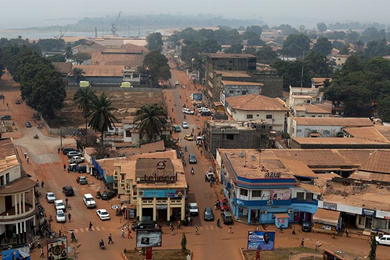 Общий вид столицы Центральноафриканской республики Банги