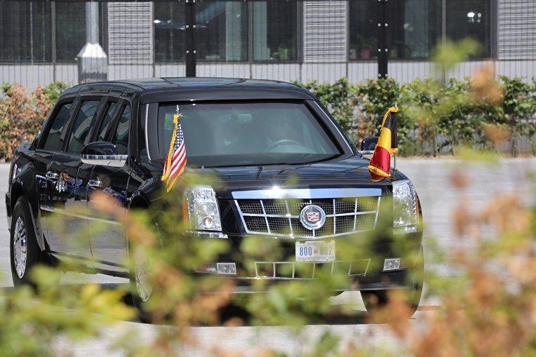 Трамп прибывает на саммит НАТО в Брюсселе