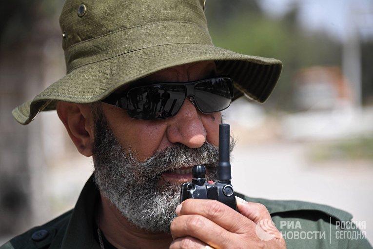 Генерал республиканской гвардии Исама Захреддин в сирийском городе Дейр-эз-Зор