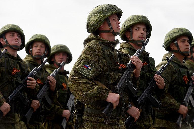 Российские солдаты на военной базе «Хмеймим»