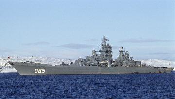 """Северный флот. Тяжелый атомный ракетный крейсер """"Калинин"""""""