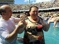 Свидетели Иеговы принимают участие в массовом крещении