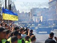 Военный парад в Киеве ко Дню независимости Украины