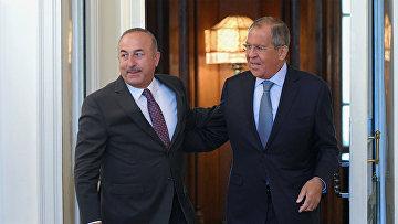 Встреча глав МИД РФ и Турции С.Лаврова и М.Чавушоглу