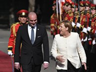 Премьер-министр Грузии Мамука Бахтадзе и канцлер Германии Ангела Меркель
