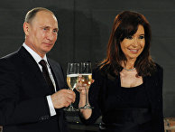 Владимир Путин и Кристина Киршнер во время встречи в Буэнос-Айресе