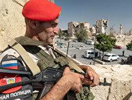 Российский офицер военной полиции в Алеппо, Сирия
