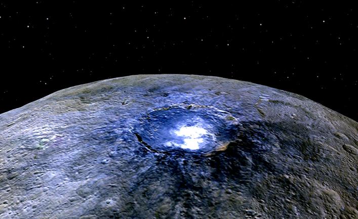 Кратер Оккатор на планете Церера