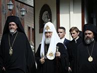 Патриарх Московский и всея Руси Кирилл во время визита в Стамбул. 31 августа 2018