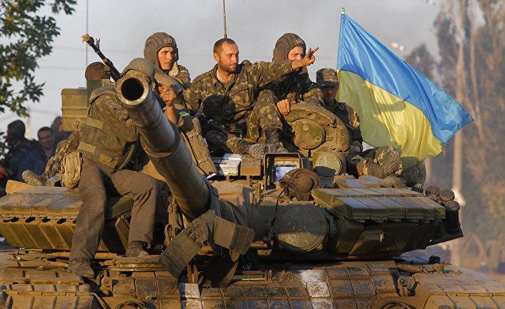 Украинские солдаты в Мариуполе