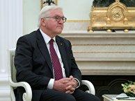 Федеральный президент Федеративной Республики Германия Франк-Вальтер Штайнмайер во время встречи с президентом РФ Владимиром Путиным. 25 октября 2017