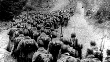Советские войска пересекают границу Польши. 1939.