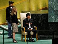 26 сентября 2018. Эво Моралес выступает на 73-й Генеральной Ассамблее ООН