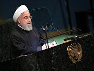 Президент Ирана Хасан Роухани выступает во время 73-ей сессии Генассамблеи ООН в Нью-Йорке