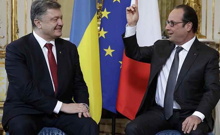 Петр Порошенко и Франсуа Олланд, визит украинского президента во Францию