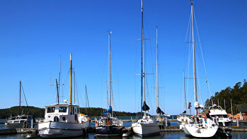 Лодки в бухте Айристо, Финляндия