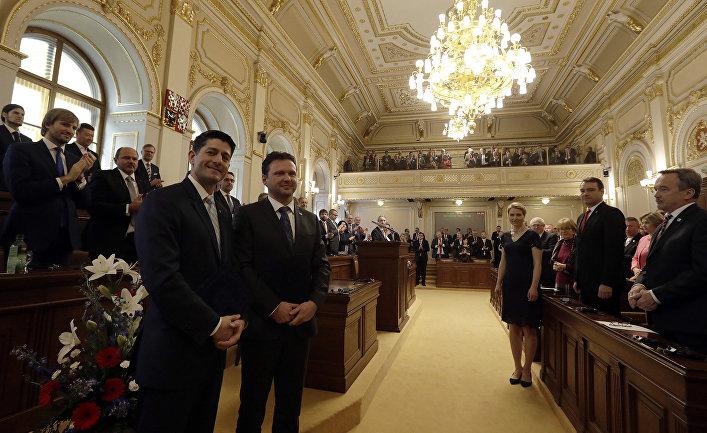 Заседание в парламенте Чешской Республики в Праге