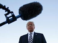 Президент США Дональд Трамп во время предвыборного митинга