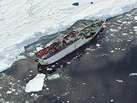 """Российское рыболовное судно """"Спарта"""", терпящее бедствие у берегов Антарктиды"""