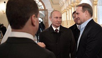 Президент РФ В. Путин и премьер-министр РФ Д. Медведев посетили Воскресенский Ново-Иерусалимский монастырь