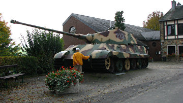 """Танк """"Королевский Тигр"""", Ля Глейз, Бельгия"""