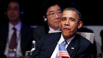 Американский президент Барак Обама в Гааге