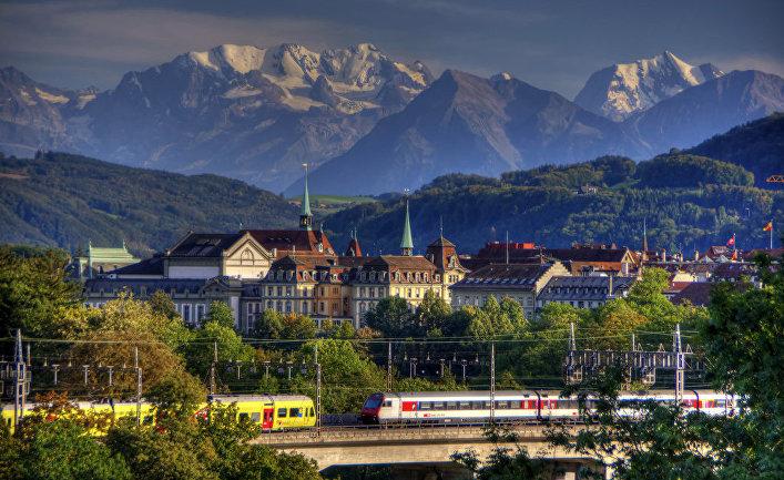 Вид Берна, Швейцария