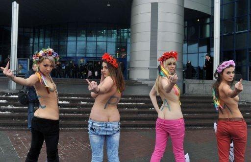 феминистское оппозиционное движение FEMEN