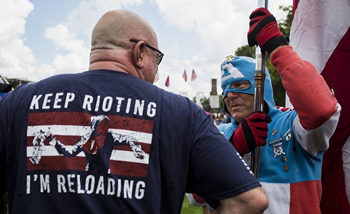 Сторонники Дональда Трампа во время митинга в Вашингтоне